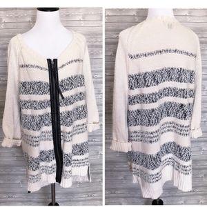 Long zip up sweater